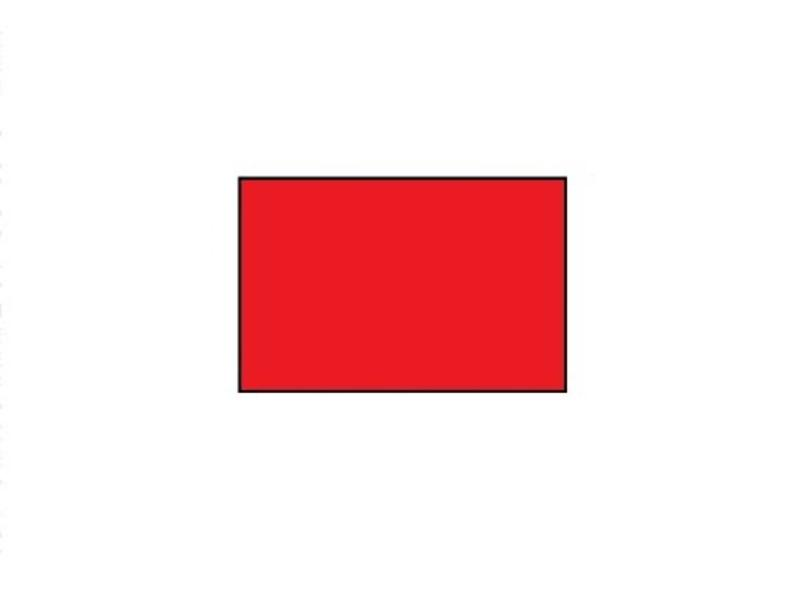 BLITZ prijsetiketten 26x16 rood rechthoek - 1ds á 36 rol