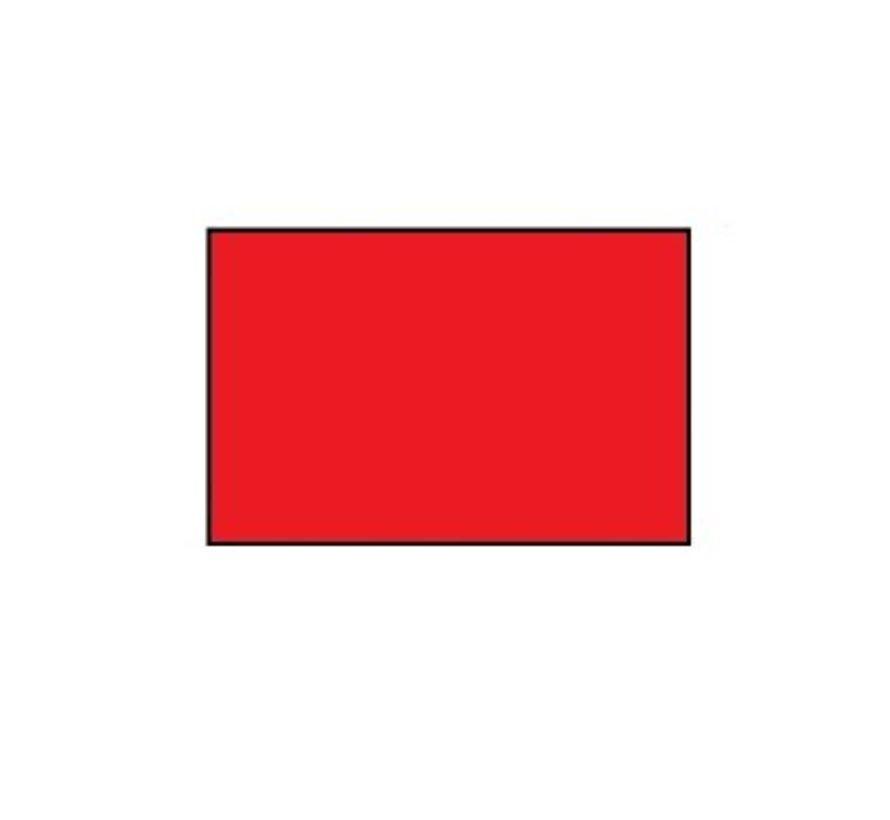 prijsetiketten 26x16 rood rechthoek - 1ds á 36 rol