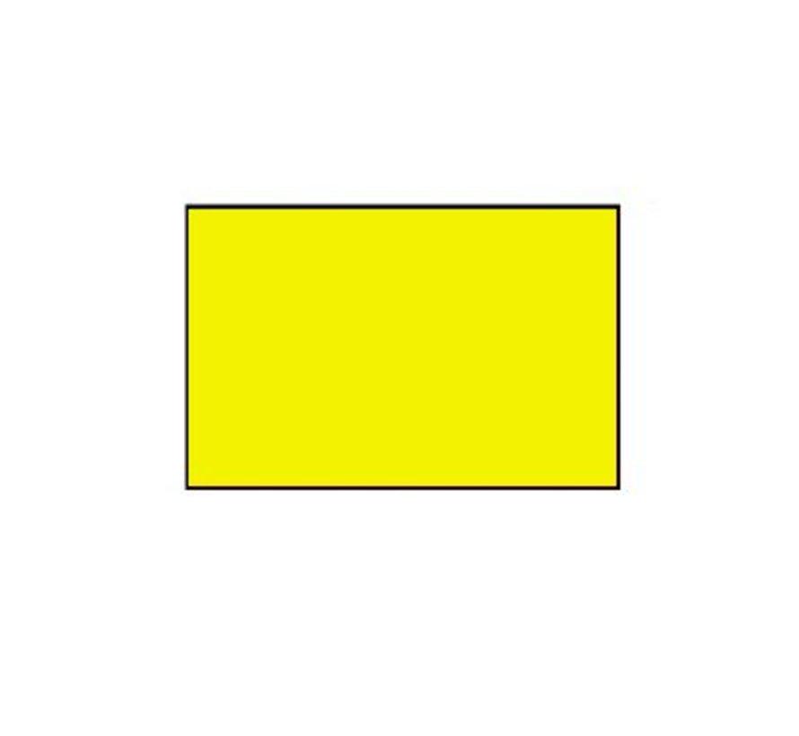 prijsetiketten 26x16 fluor geel rechthoek - 1ds á 36 rol
