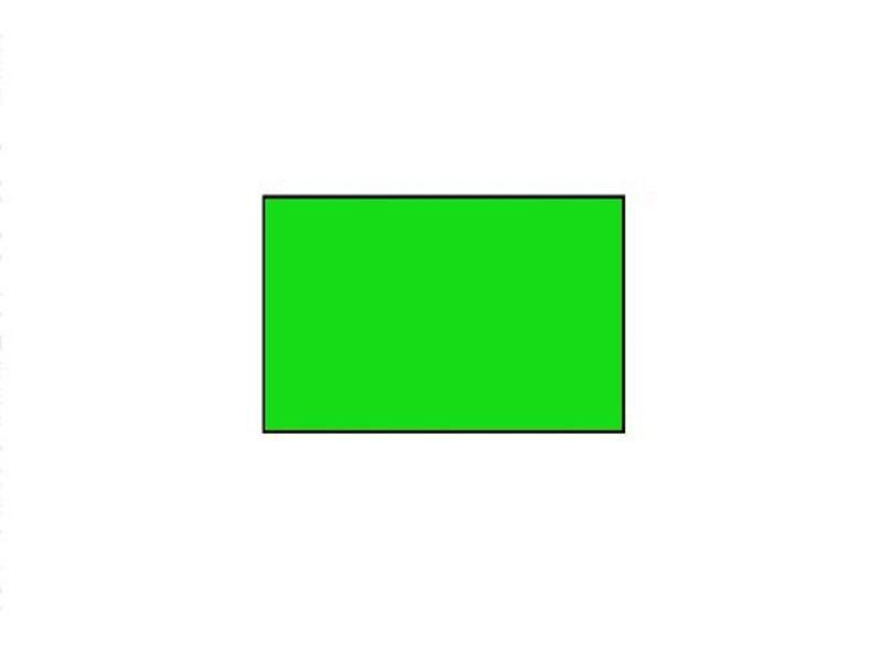 BLITZ prijsetiketten 26x16 fluor groen rechthoek - 1ds á 36 rol