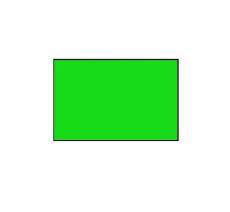 prijsetiketten 26x16 fluor groen rechthoek - 1ds á 36 rol