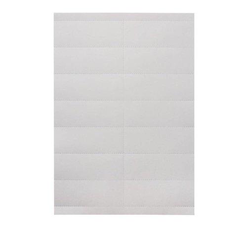 Schapkaarten 105x26 MM (22 stuks/vel)