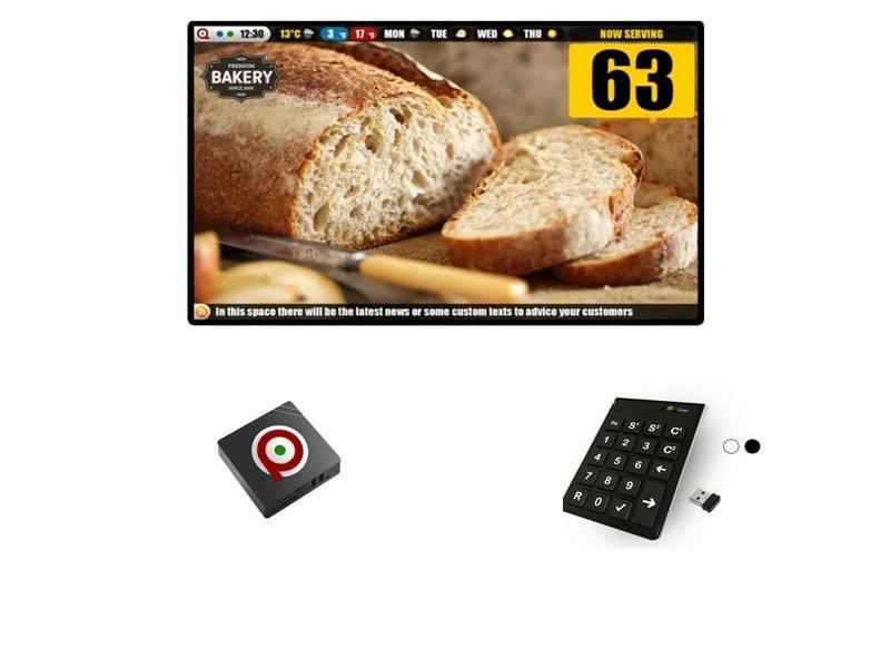 Digitaal Volgnummersysteem Box + Afstandsbediening (Draadloos)