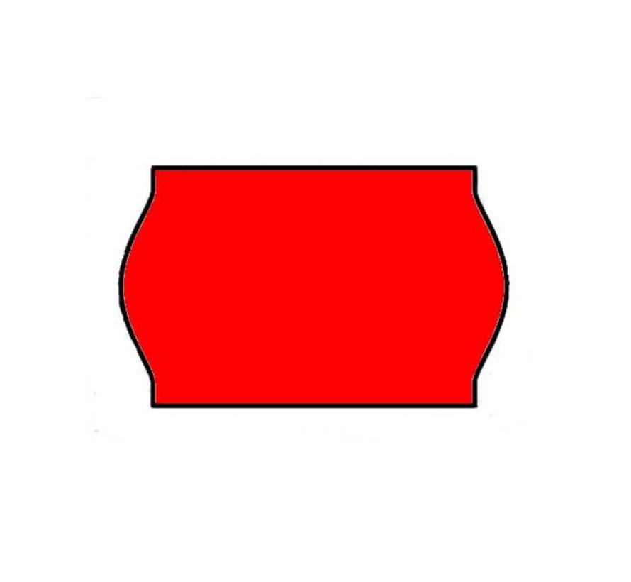 etiketten 26x16 rood - 1ds á 36 rol
