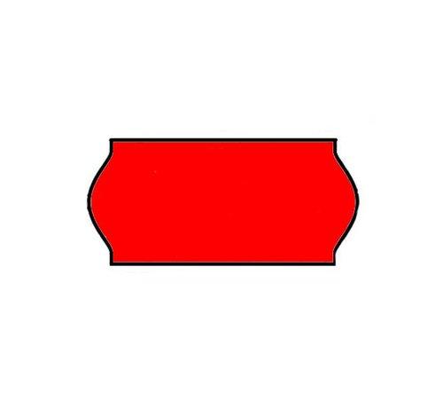 BLITZ prijstangetiketten 26x12 rood - 1 ds à 36 rol