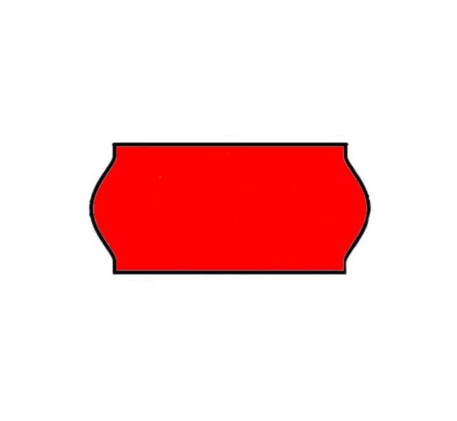 prijstangetiketten 26x12 rood - 1 ds à 36 rol