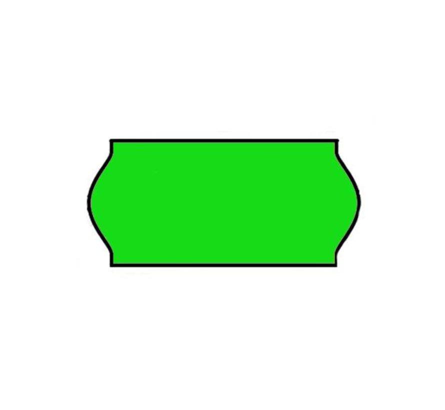 Prijsetiketten 26x12 Fluor groen - 1ds à 36 rol
