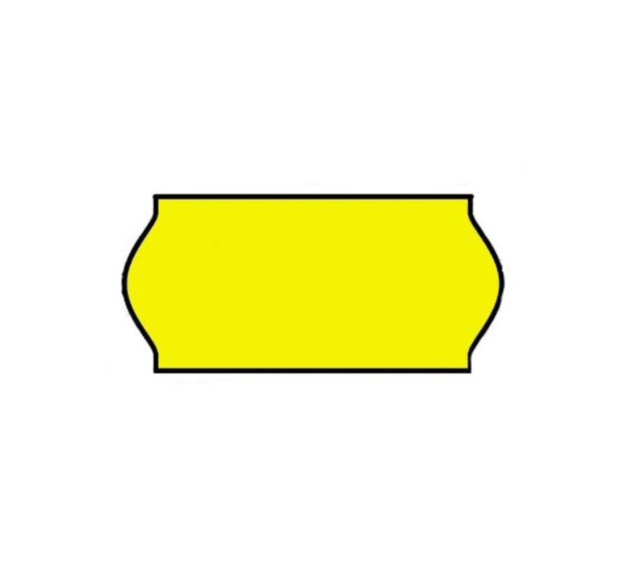Prijsetiketten 26x12 Fluor geel - 1ds à 36 rol