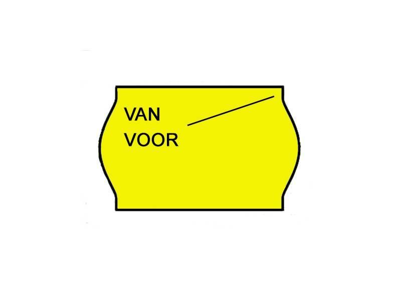BLITZ Van/voor prijsetiketten 26x16 Fluor geel - 1ds à 36 rol