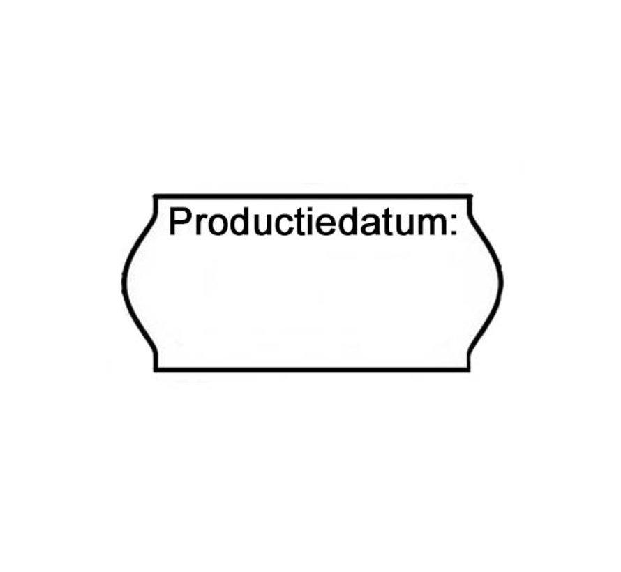 Etiketten 'Productiedatum' 26x12 -  36rol/doos