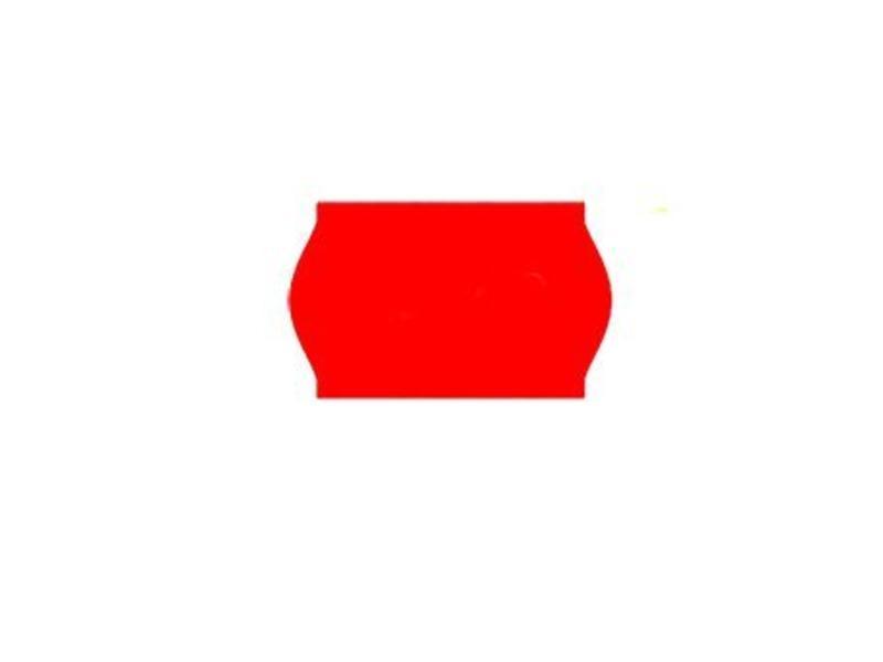 Prijsetiketten 26x16 rood - 1ds á 36 rol (geschikt voor METO)