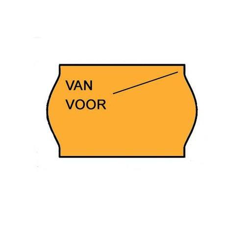 METO Etiketten Van/voor 26x16 Fluor oranje - 1ds à 36 rol -