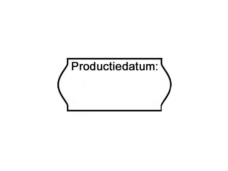 METO Etiketten 'Productiedatum' 26x12 -  36rol/doos -