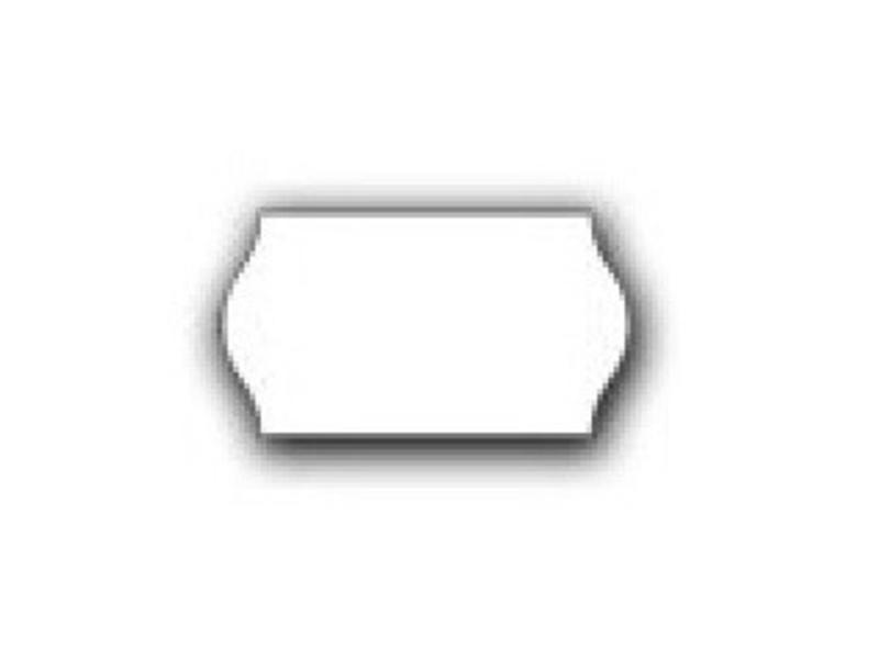 METO prijstangetiketten 22x12 wit - 1ds á 42 rol - meto
