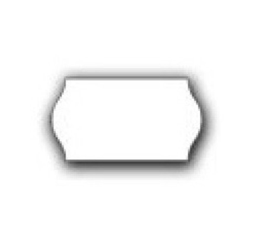 prijstangetiketten 22x12 wit - 1ds á 42 rol - meto