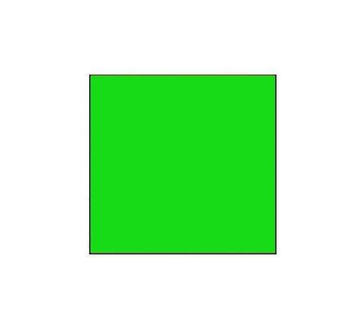 METO Prijsetiketten 29x28 fluor groen - 1 ds à 30 rol