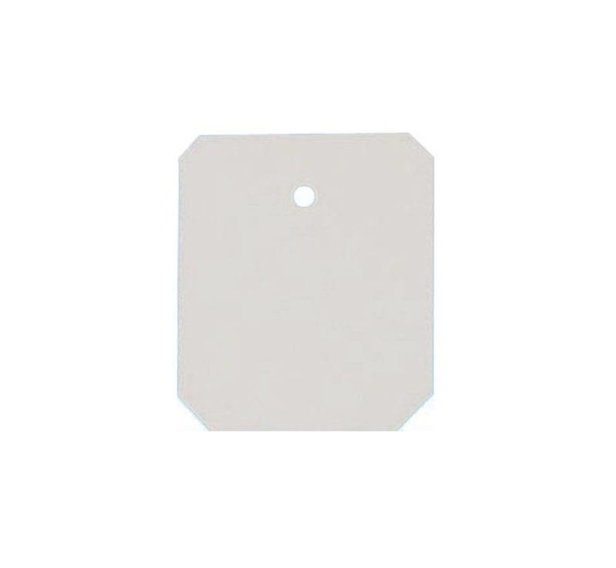 Hangetiketten 33x28 mm wit - 1500/rol