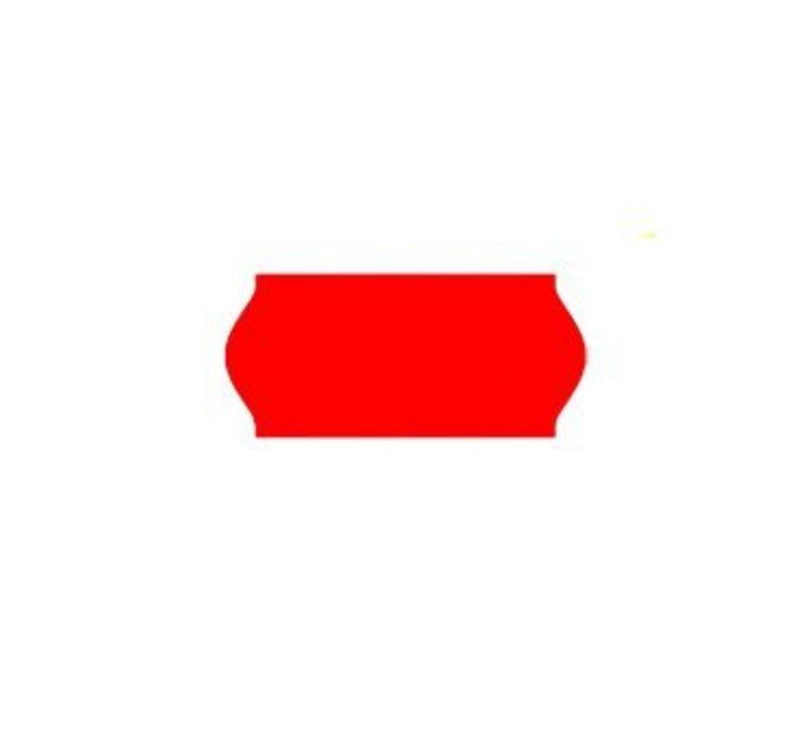 prijsetiketten 26x12 /25x12 fluor rood - 1ds à 36 rol