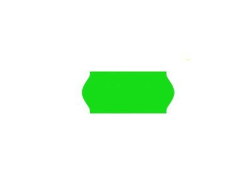 Contact prijsetiketten 26x12 /25x12 fluor groen - 1ds à 36 rol