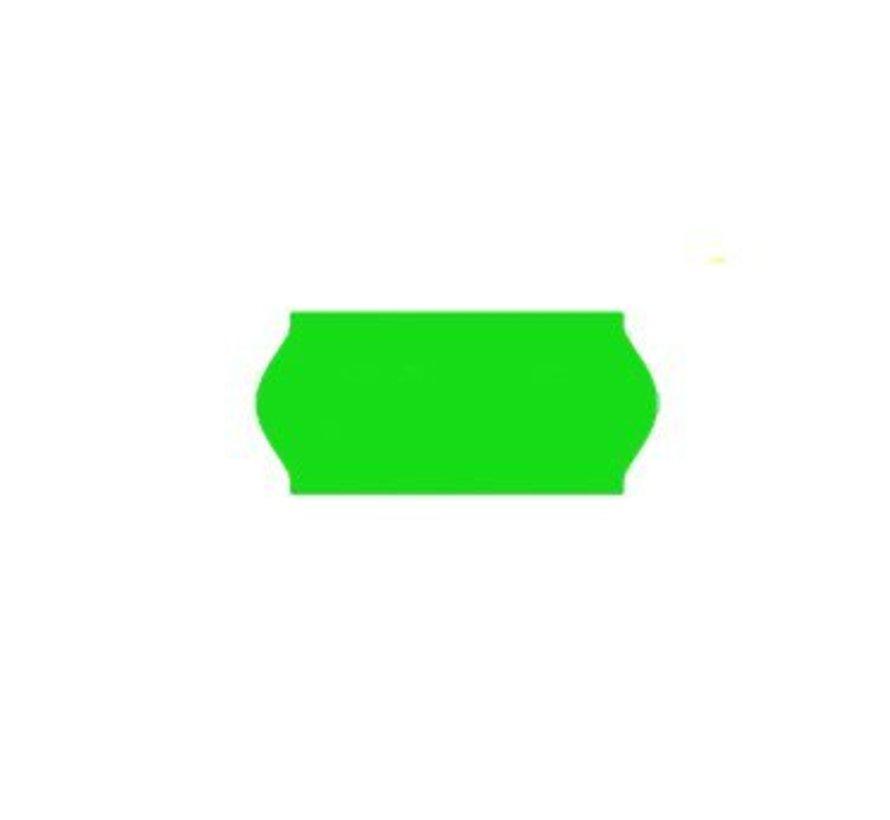 prijsetiketten 26x12 /25x12 fluor groen - 1ds à 36 rol