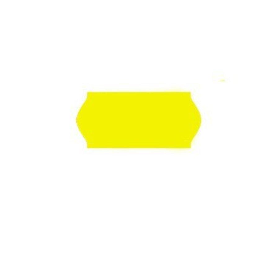 etiketten 26x12 fluor geel - 1ds à 36 rol - Contact
