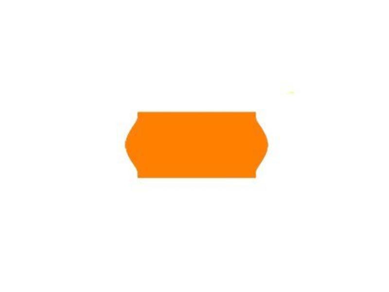 Contact prijsetiketten 26x12/ 25x12 fluor oranje - 1ds à 36 rol