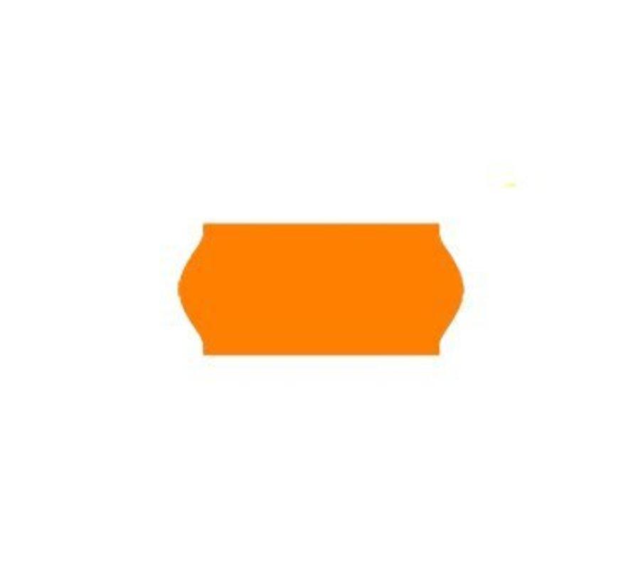 prijsetiketten 26x12/ 25x12 fluor oranje - 1ds à 36 rol
