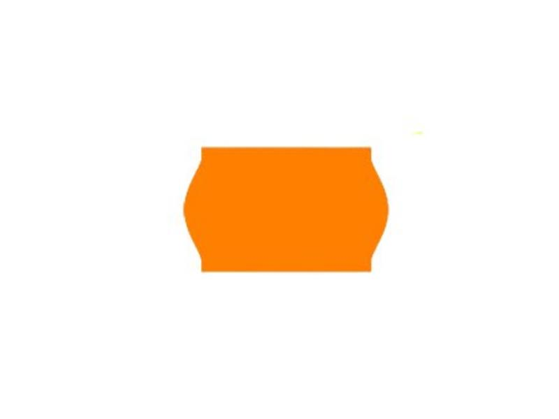 Contact prijsetiketten 26x16/25x16 fluor oranje - 1ds à 36 rol