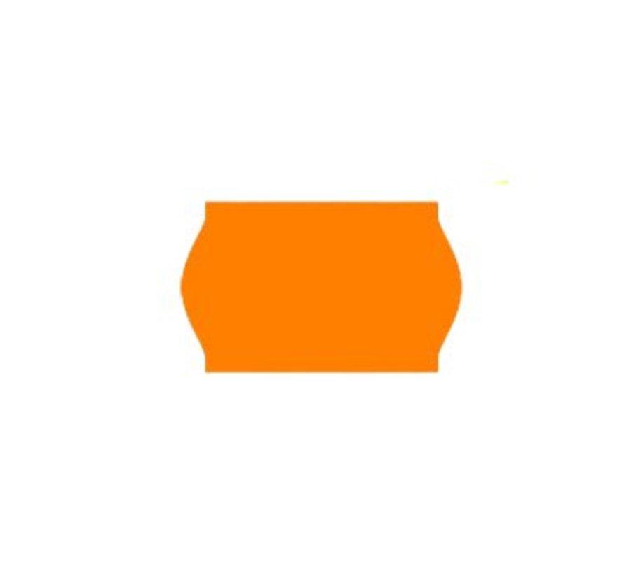 prijsetiketten 26x16 / 25x16 fluor oranje - 1ds à 36 rol