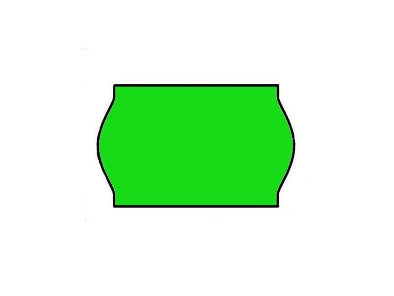 Contact prijsetiketten 26x16/25x16 fluor groen - 1ds à 36 rol