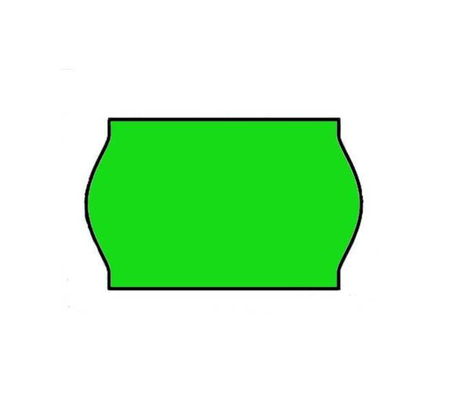 prijsetiketten 26x16 / 25x16 fluor groen - 1ds à 36 rol