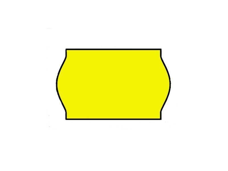 Contact prijsetiketten 26x16/25x16 fluor geel - 1ds à 36 rol
