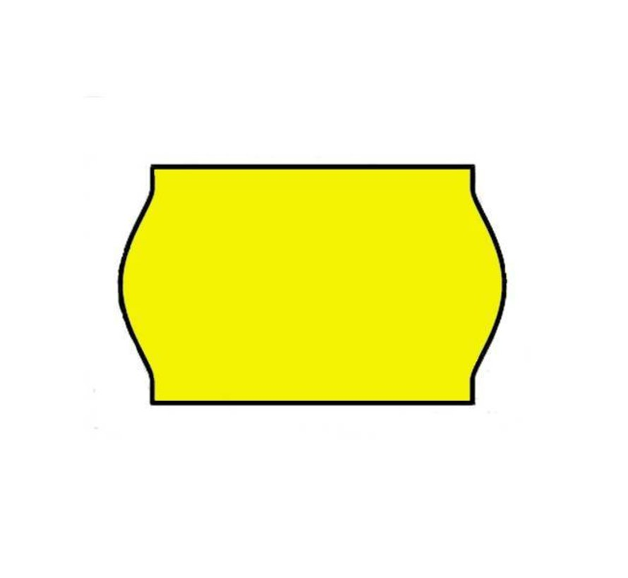 prijsetiketten 26x16 / 25x16 fluor geel- 1ds à 36 rol