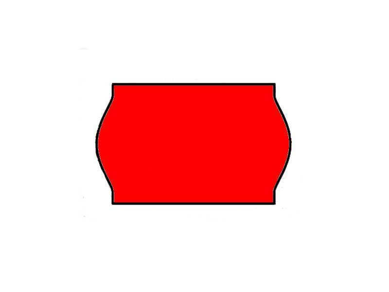 Contact prijsetiketten 26x16 / 25x16 fluor rood- 1ds à 36 rol