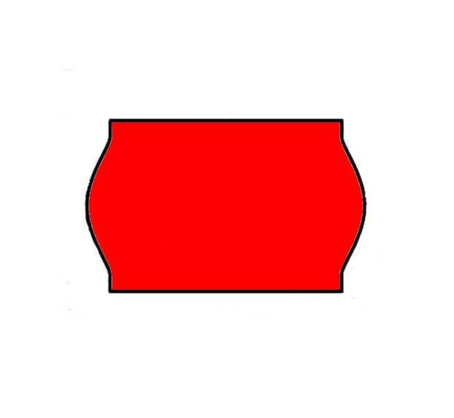 prijsetiketten 26x16 / 25x16 fluor rood- 1ds à 36 rol