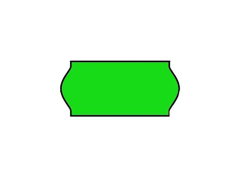 Prijstangetiketten 26x12 groen Universeel - 1 ds à 36 rol