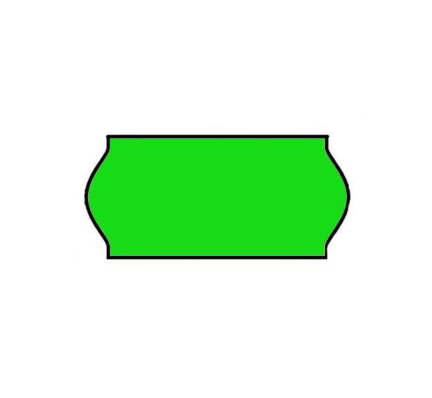 Prijstangetiketten Universeel 26x12 groen - 1 ds à 36 rol