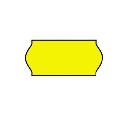 Prijstangetiketten Universeel 26x12 geel - 1 ds à 36 rol