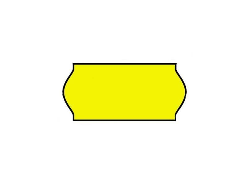 Prijstangetiketten 26x12 geel Universeel - 1 ds à 36 rol