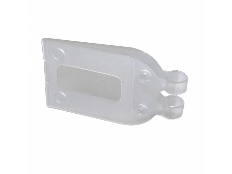 Pendelclip 28x33mm transparant