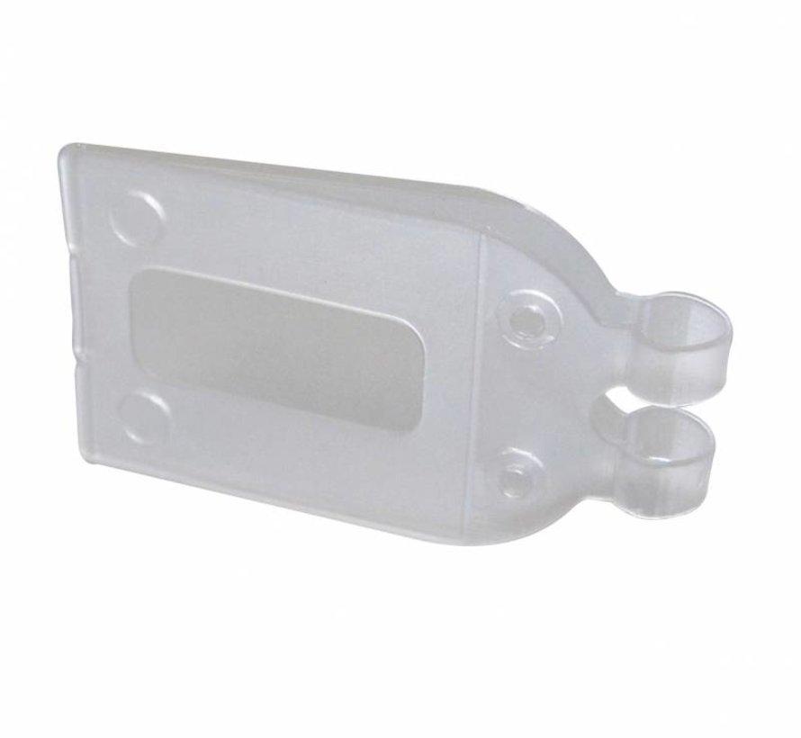 Pendelclip 28x33mm transparant