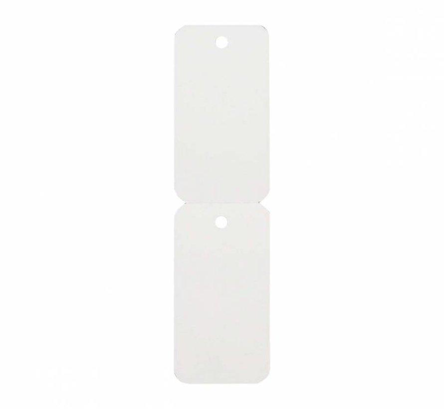 Hangetiketten 58x30 mm wit - 1500/rol