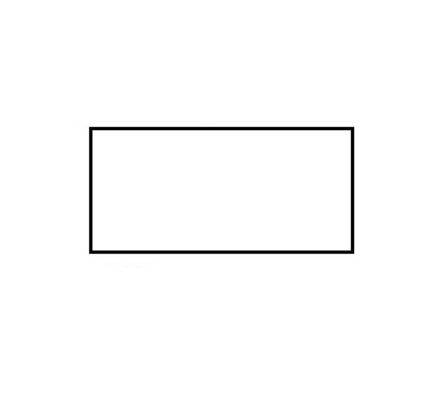 Prijsetiketten 26x12 rechthoek wit - 1ds á 36 rol