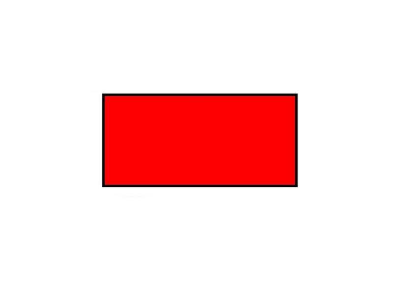 BLITZ Prijsetiketten 26x12 rechthoek rood - 1ds á 36 rol