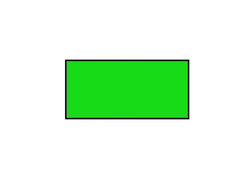 BLITZ Prijsetiketten 26x12 rechthoek groen - 1ds á 36 rol