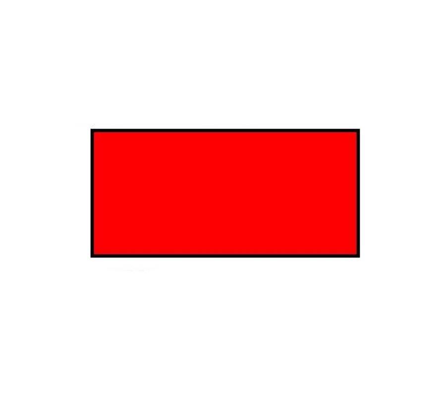Prijsetiketten 26x12 rechthoek fluor rood Universeel - 1ds á 36 rol