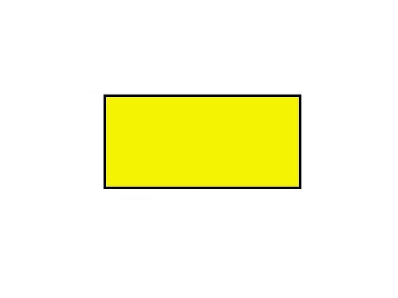 Prijsetiketten 26x12 rechthoek fluor geel Universeel - 1ds á 36 rol