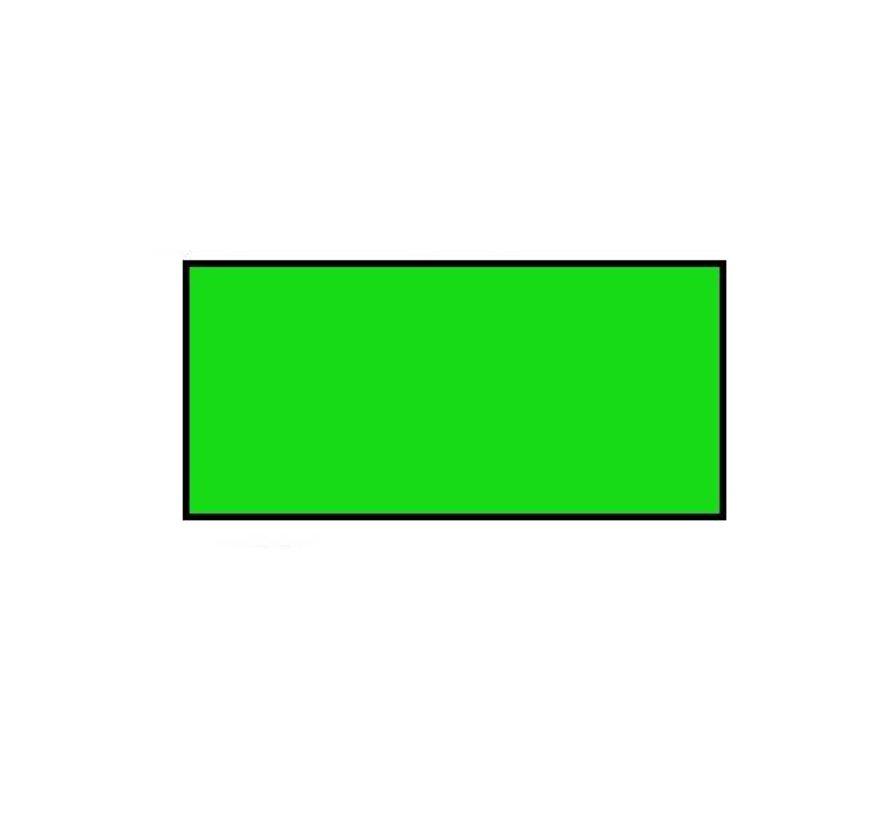Prijsetiketten 26x12 rechthoek fluor groen Universeel - 1ds á 36 rol