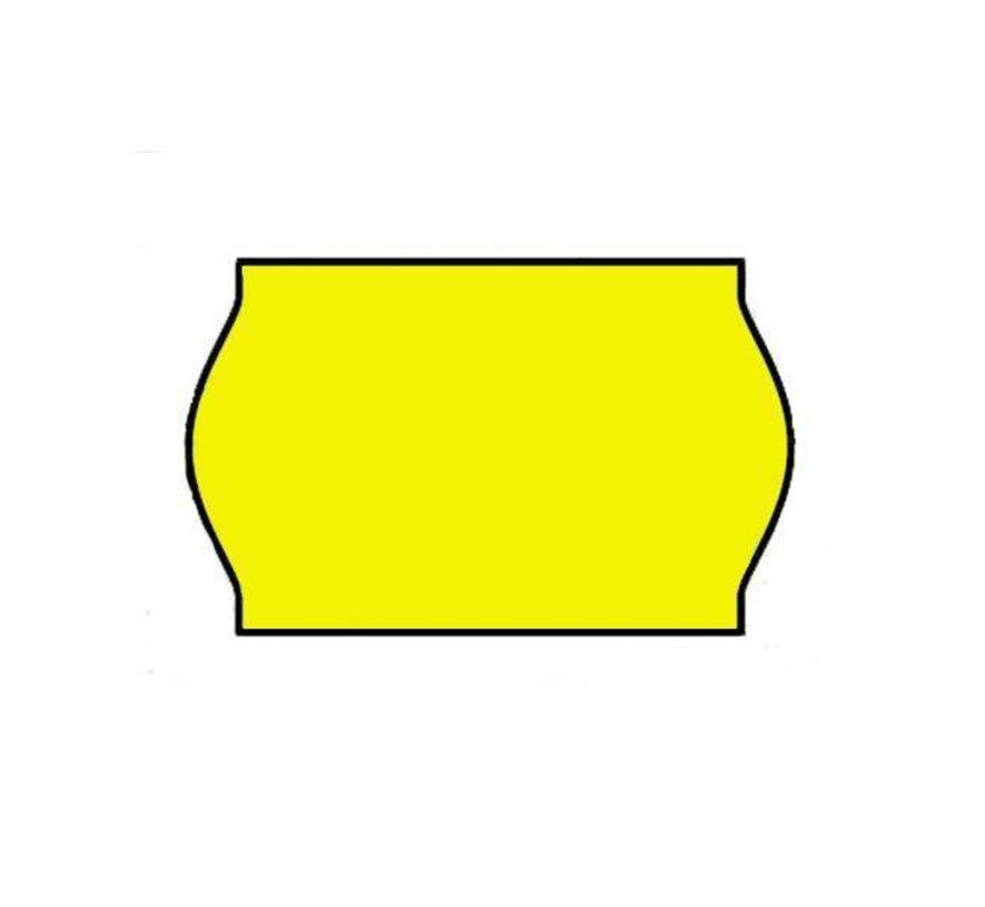 Prijsetiketten 26x16 fluor geel - 1ds á 36 rol (geschikt voor METO)