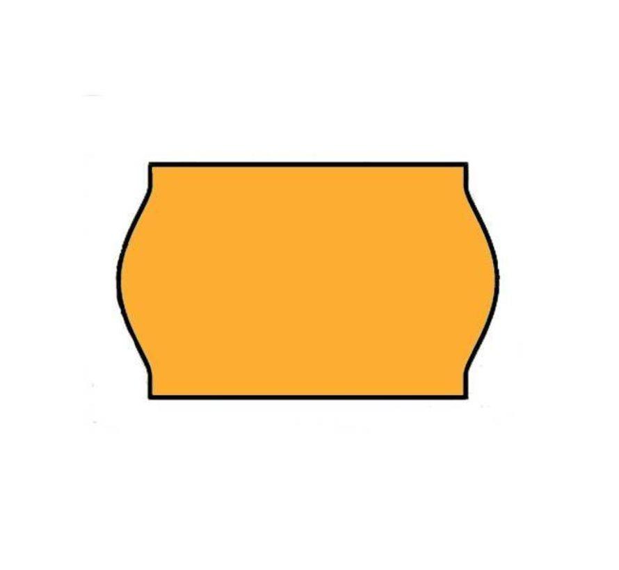 Prijsetiketten 26x16 fluor oranje - 1ds á 36 rol (geschikt voor METO)